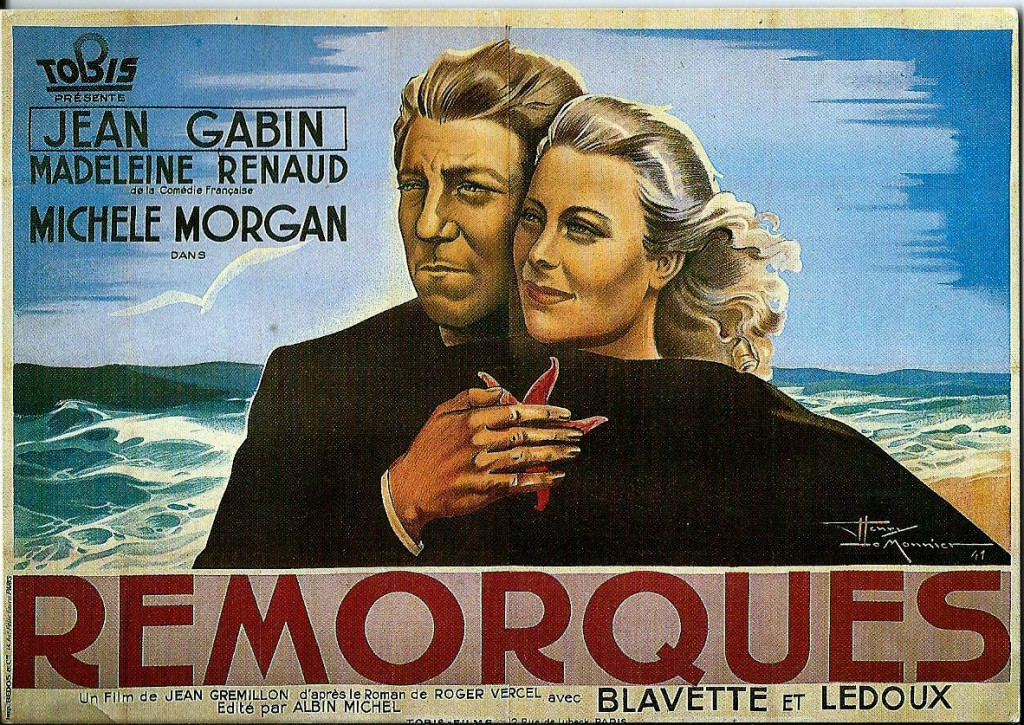 Affiche du film Remorques (archive privée)