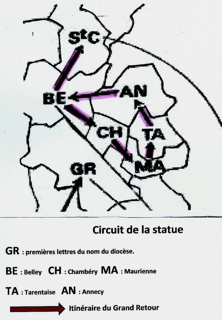 Carte d'après article de L. Perouas
