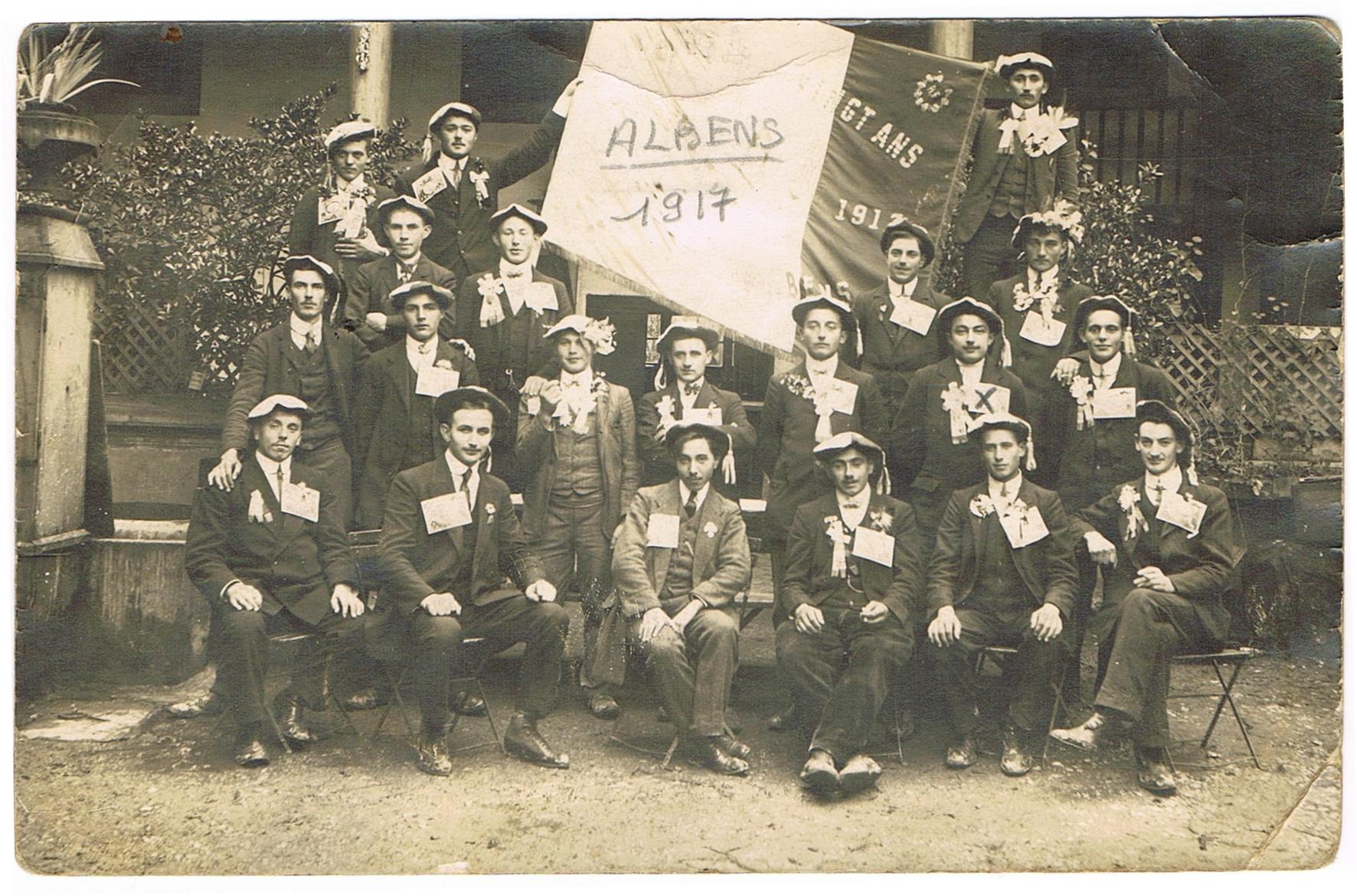 Bon pour les filles ConscritsAlbens1917