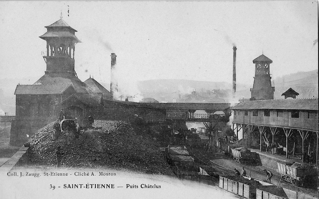 On exploitait le charbon à Saint-Étienne (collection privée)