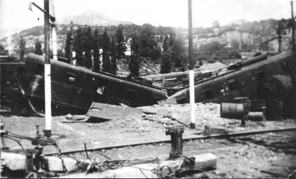 La gare de Chambéry en 1944