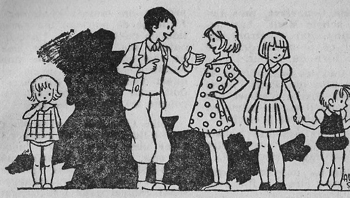 Groupe d'enfants (dessin de 1942)