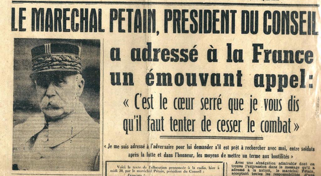 Dans la presse le 18 juin 1940 (archive privée)