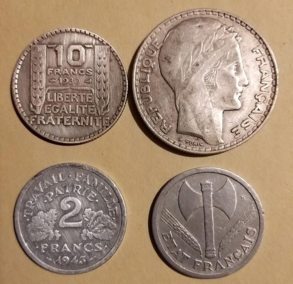 IIIe République, État Français, les monnaies
