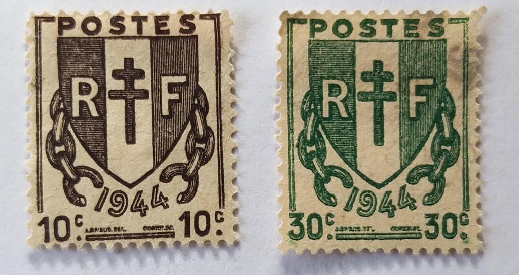Timbres aux chaînes brisées – 1944