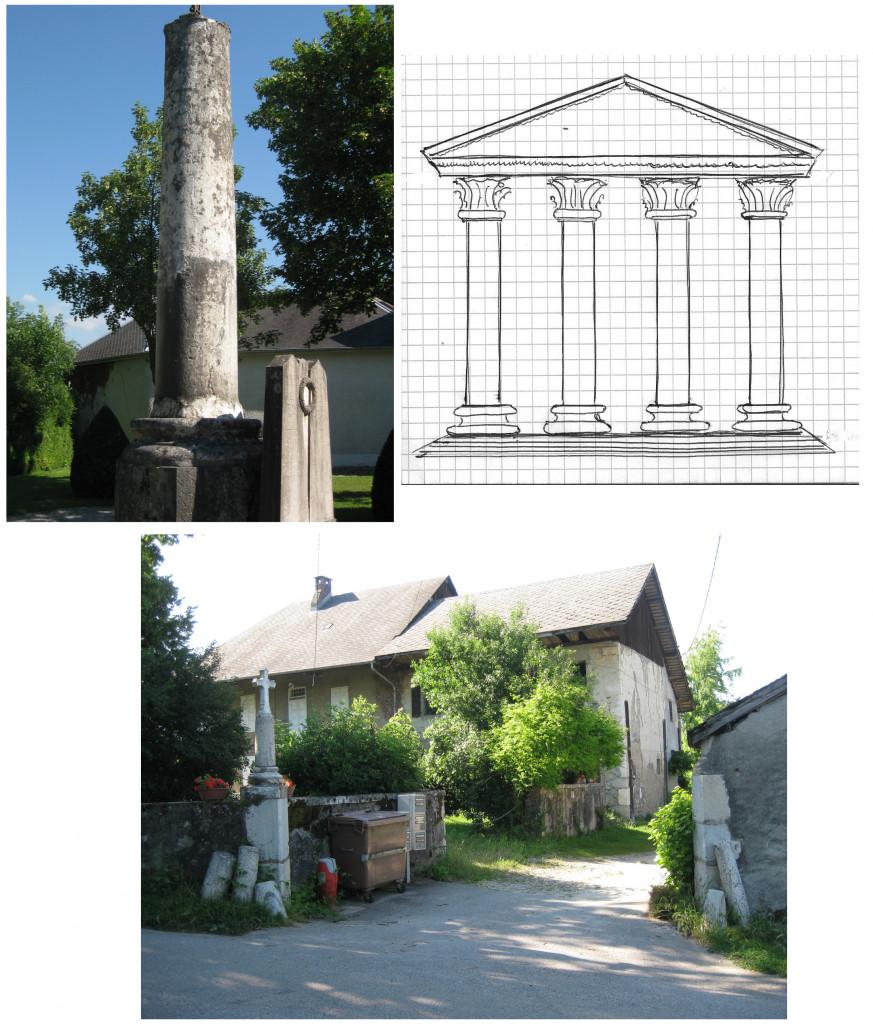 Des colonnes souvenir de nombreux temples