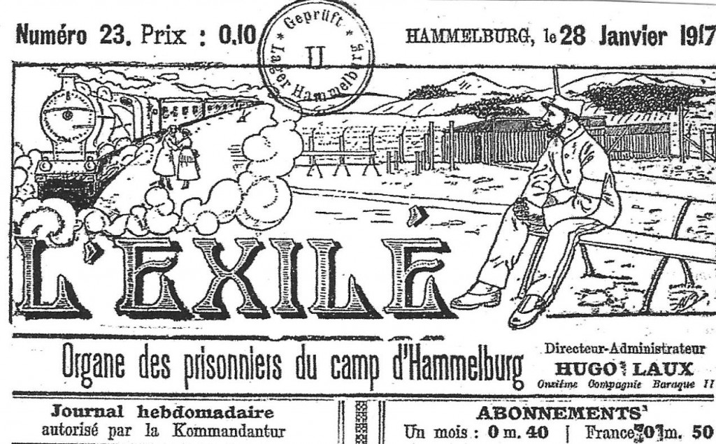 Bandeau d'un journal de camp (archives privées)