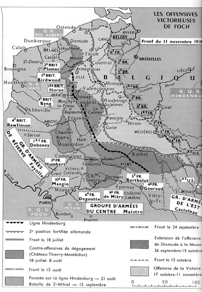carte offensives 1918 2
