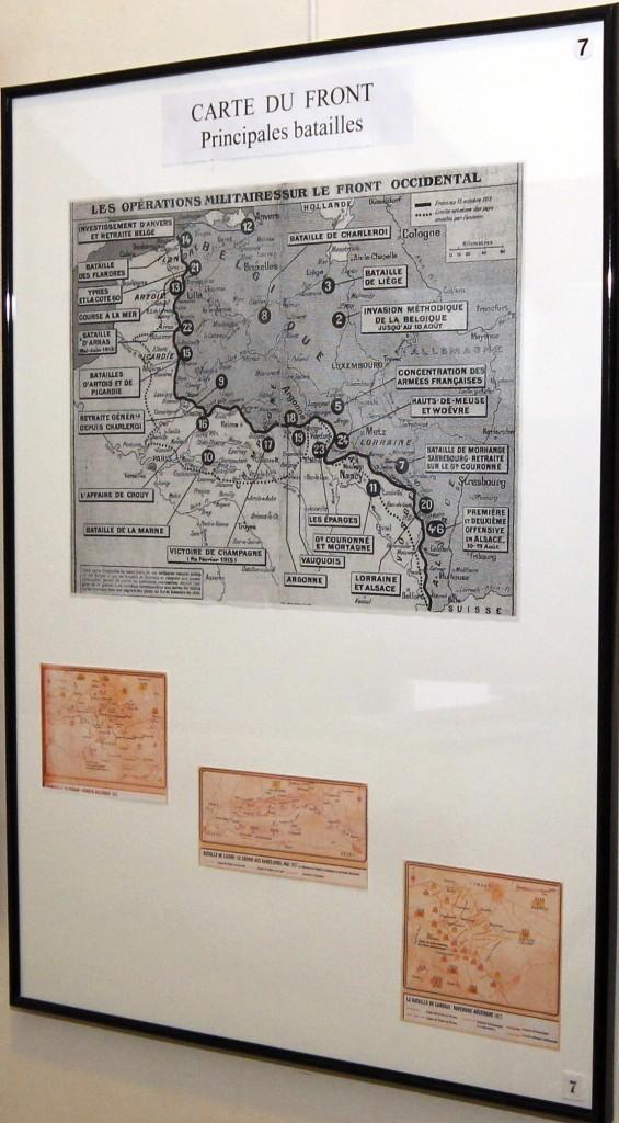 Carte du front et principales batailles