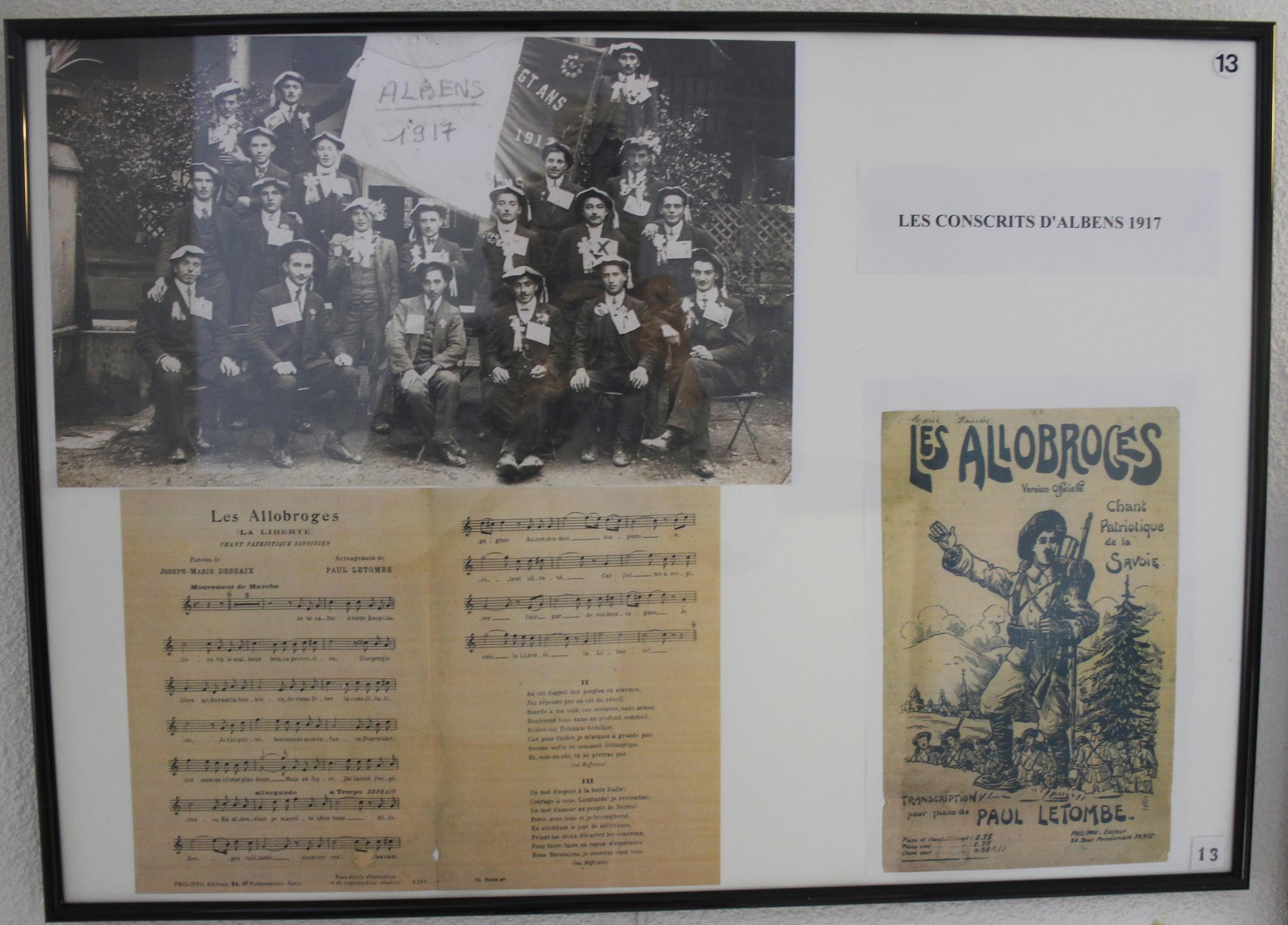 Les Conscrits d'Albens en 1917