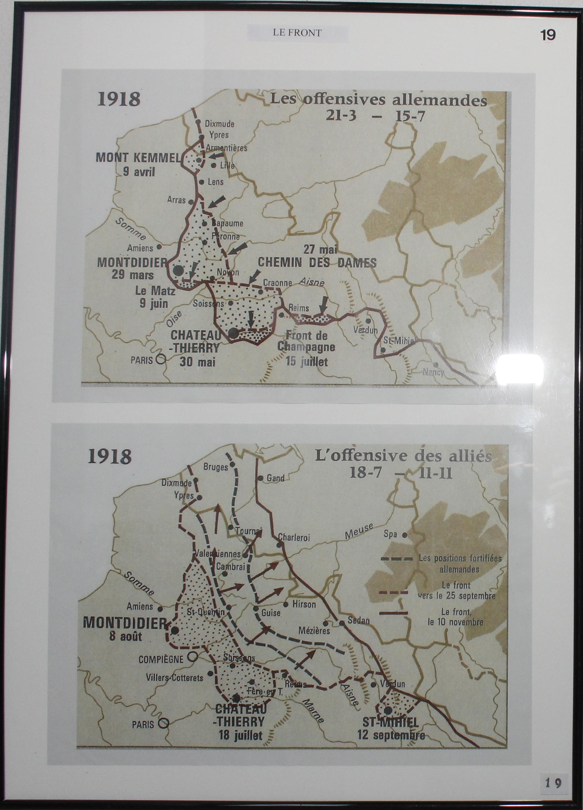 Le front en 1918