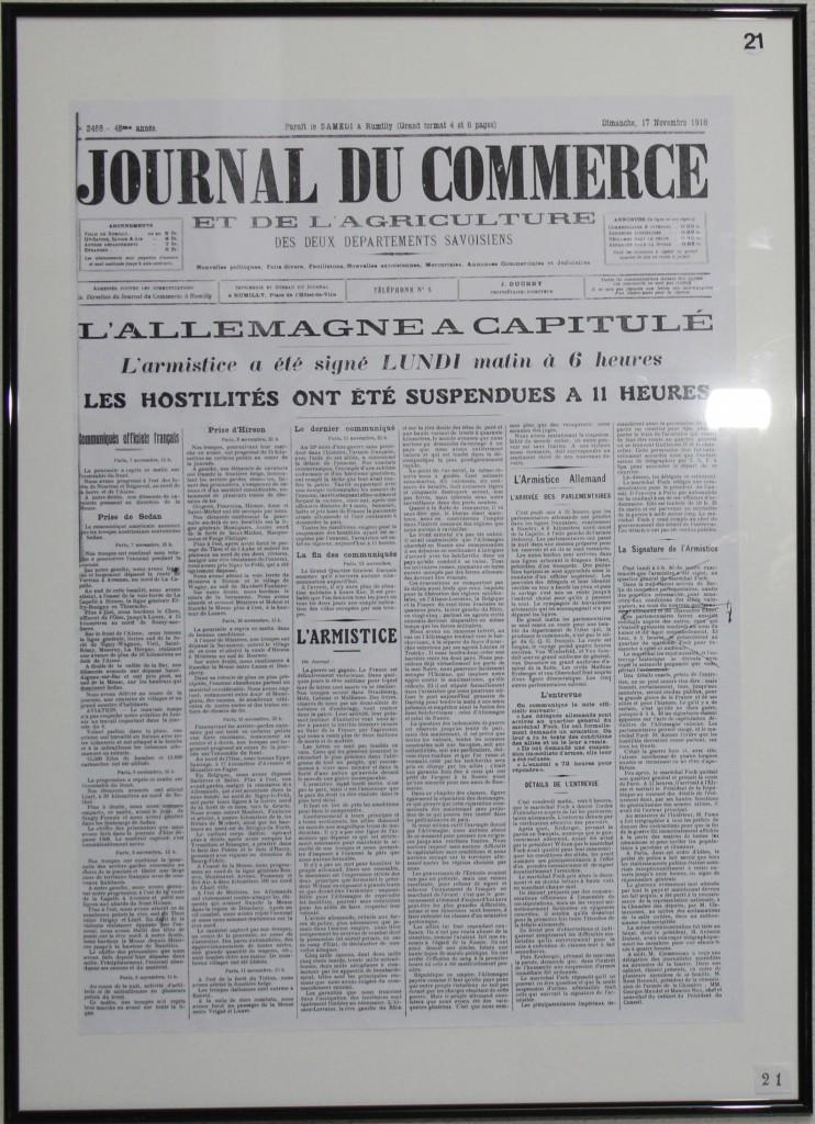 Annonce de l'armistice