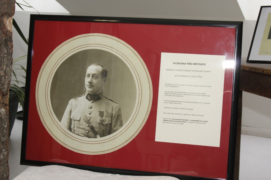 Le docteur Félix Michaud, mobilisé dès le début du conflit, soignera les combattants tout au long de la guerre.