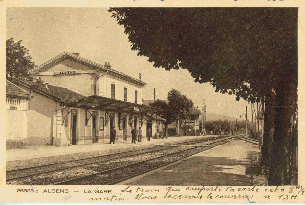 La gare d'Albens, vue des années 30 (archive Kronos)