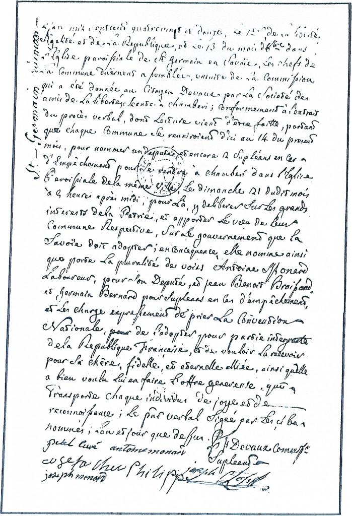 PV de réunion en 1792 à Saint-Germain