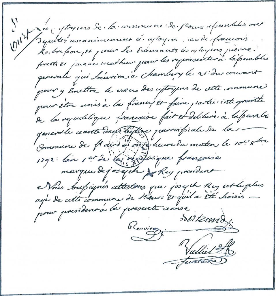 PV de réunion en 1792 à Saint-Ours
